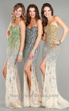 Jovani ombre sequined