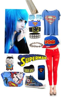 """""""Superman! Outfit!"""" by volleychickss ❤ liked on Polyvore"""