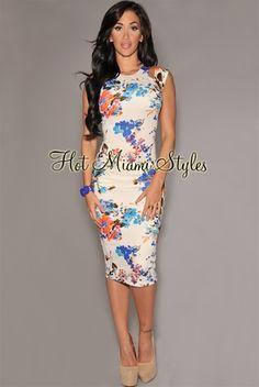 hot miami styles floral midi