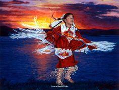 "Native American Art Prints | Dancing Waters"" 16"" x 21"" -Native American Paintings by Karen Noles"
