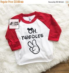VET SALE oh twodles, two year old shirt, i'm two lets party, 2nd birthday, raglan, two year old birthday shirt, boys birthday shirt, boy shi