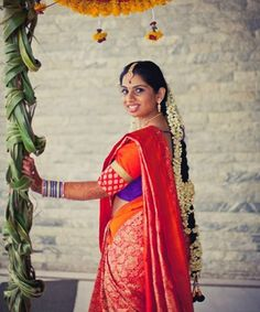 Beautiful south indian bride, kanjevaram saree