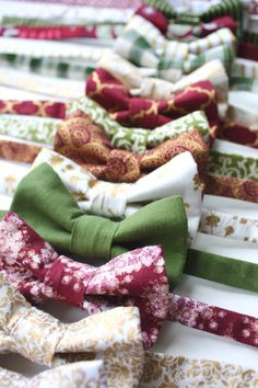 Little and Big Guy Holiday Winter Christmas BOW TIE  Burgundy Green and Gold by petitepeanut