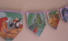 The Little Mermaid - Storybook Paper Bunting by MagpieSailor on Etsy, $14.50