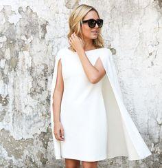 The CHICago Life Blog   White Cape Dress