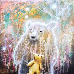 Bear Painting Fine Art Print Wall Decor von ScottMillsArt
