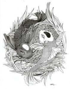 yin yang koi fish - Google Search