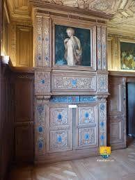 francisque scibec de carpi , cabinet des Grelots du chateau de Beauregard, lambris sculptés et rehaussés d'or.