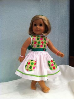 Thanksgiving Apple Pie Doll Dress   fits 18 by SmallWorldCouture