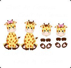 Girafa clip arte, girafinhas, cha de bebe, scrapbook, zoo, safari, floresta…