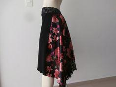 SATIN Tail Argentine Tango Cascade Skirt Size by COCOsDANCEWEAR
