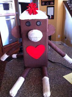 My 4th graders Sock Monkey Valentine's Box that we did last year!