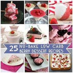 Best Low Carb No Bake Dessert Recipes | All Day I Dream About Food