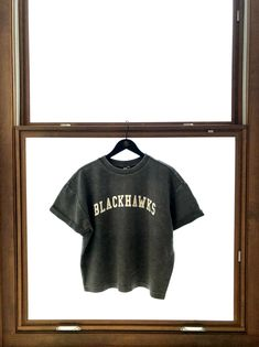 This Ladies chicka-d Corded Tee ($45) just arrived at the #BlackhawksStore! Stop on by or give us a call at 312-759-0079 to purchase. Blackhawks Store, Comfy, Crop Tops, Tees, T Shirts, Teas, Shirts, Cropped Tops, Crop Top Outfits