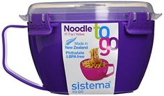 Sistema Noodle Bowl To Go 31.7Oz / 940Ml, Purple, 2015 Amazon Top Rated Food Savers & Storage Containers #Grocery
