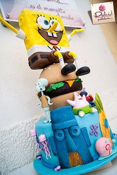 Pastel Bob Esponja | Dolci Pastelería - www.dolci.mx | Kalid M. Torres | Flickr