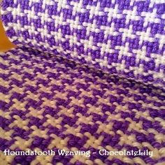 Rigid heddle Houndstooth pattern tutorial