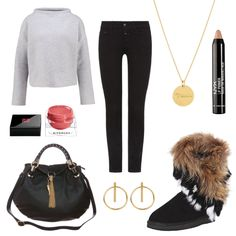 OneOutfitPerDay 2017-01-13 - #ootd #outfit #fashion #oneoutfitperday #fashionblogger #fashionbloggerde #frauenoutfit #herbstoutfit - Frauen Outfit Frühlings Outfit Outfit des Tages Winter Outfit 7/8 Jeans Boots Closed Givenchy Halskette Handtasche Liu Jo MALAIKARAISS nude NYX Ohrringe OPUS rose Sabrina Sabrina Dehoff Schwarz SKUTARI Strickpullover