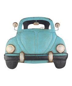 Volkswagen Blue Beetle Car Décor Adorn the walls with this charming, vintage freestanding décor made from long-lasting metal. VW Auto W x H x D Metal Imported art Beetle Car, Blue Beetle, Boy Room, Kids Room, Wrought Iron Wall Decor, Outdoor Metal Wall Art, Fun, Decor Ideas, Gift Ideas