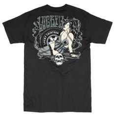 """Men's """"Kustom Evil"""" Tee by Lucky 13 (Black) #InkedShop #tee #mens #clothing #Lucky13 #style #fashion"""