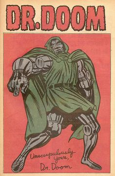 Doctor Doom Pin-Up by Jack Kirby