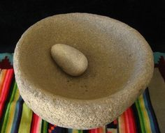 Image Detail for - NATIVE AMERICAN GRINDING STONE, Metate Mortar Mano California Indian ...