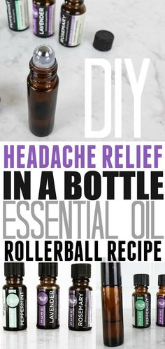 Essential oil roller ball recipe for helping relieve headaches! Love that this is made with basic, affordable essential oils!