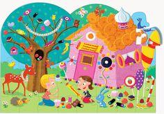Puzzle Hansel et Gretel - Puzzles verticaux