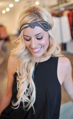 Dottie Couture Boutique - Beaded Headband- Navy, $18.00 (http://www.dottiecouture.com/beaded-headband-navy/)
