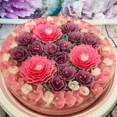 Culinary Artist Makes Jelly Cakes' Encasing Edible Scenes of Nature Within Cupcakes, Cupcake Cakes, 3d Jelly Cake, Jelly Flower, Mousse, Edible Crafts, Jello Recipes, Cake Makers, Colors