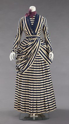 American late 1880's cotton and silk