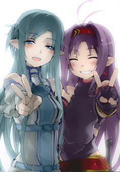 Asuna and Yuuki |  Sword  Art  Online