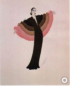 Erté - Evening Dress, 1975