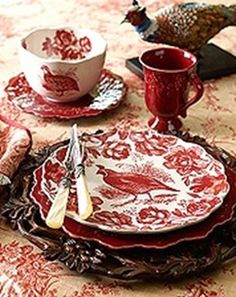 It's the perfect counterpoint to red roses and red-and-white toile china—here, Johnson Brothers English Chippendale Red. Description from pinterest.com. I searched for this on bing.com/images