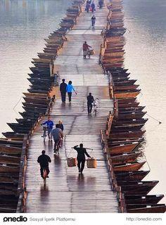 Ahşap Kayık Köprüsü, Çin