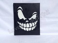 canvas acrylic painting skull original painting gothic