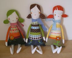 Sofie, Lizzie and Lotti by krakracraft, via Flickr