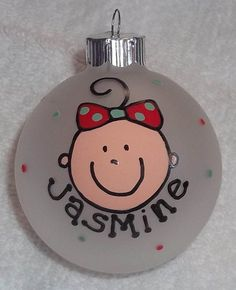 Check out this item in my Etsy shop https://www.etsy.com/listing/111585354/baby-girl-christmas-ornament-my-first