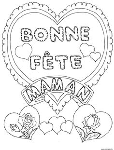 Looking for a Coloriage Imprimer Fete Des Meres. We have Coloriage Imprimer Fete Des Meres and the other about Coloriage Imprimer it free. Mothers Day Crafts, Crafts For Kids, Adult Coloring, Coloring Books, Silhouette Portrait, Free Hd Wallpapers, Free Printable Coloring Pages, Home Pictures, Good Company