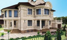 фасад - миниатюра 12 Sims House Plans, Good House, Home Pictures, Modern Contemporary, Villa, Exterior, House Design, How To Plan, Mansions