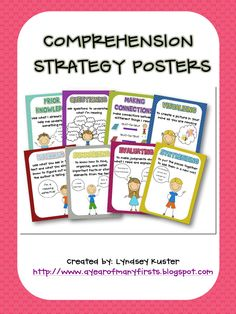 Free comprehension strategy posters...FREE!!