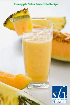 Cool off with this awesome Pineapple Salsa Smoothie Recipe!