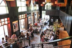 Indoor/Outdoor dining in the warmer month!