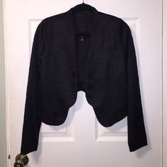 Black Cropped Blazer Cute textured cropped blazer. Shorter in the back. Mossimo Supply Co Jackets & Coats Blazers