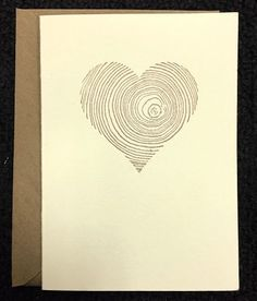 Tree Trunk Heart - Bands of Love - Greeting Card