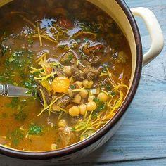 Marocká polévka Nail Polish Designs, Korn, Fondant, Chili, Curry, Food And Drink, Ethnic Recipes, Soups, Per Diem