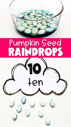 Weather Activities For Kids, Teaching Weather, Weather Crafts, Teaching Time, Kindergarten Activities, Toddler Preschool, Preschool Activities, Diy Pumpkin Seeds, Blue Food Coloring