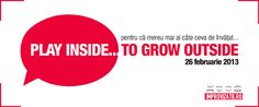 ro - Play inside to grow outside! Romanian Language, Personal And Professional Development, Workshop, Events, Play, Learning, Business, Atelier, Work Shop Garage