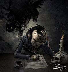 Edgar Allen Poe by Luciano, 2009.