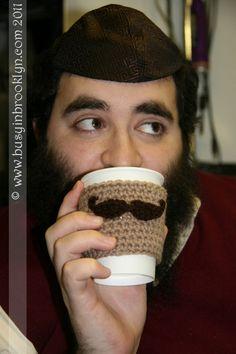 Cutest Crocheted Coffee Cup Cozy!